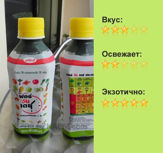 """Фруктово-овощной напиток """"For One Day"""""""