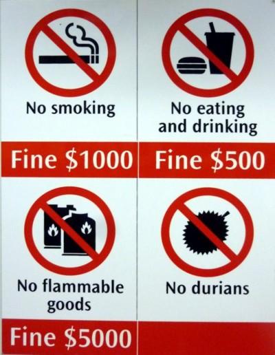 Запреты и правила в Сингапуре
