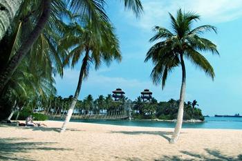 Пляж на о. Сентоза