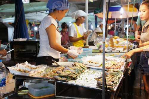 Ночной рынок Краби