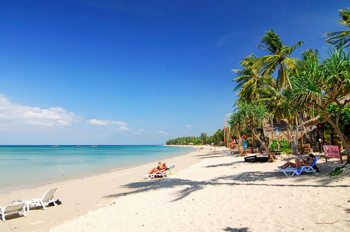Hotels and beaches of Koh Lanta in Thailand