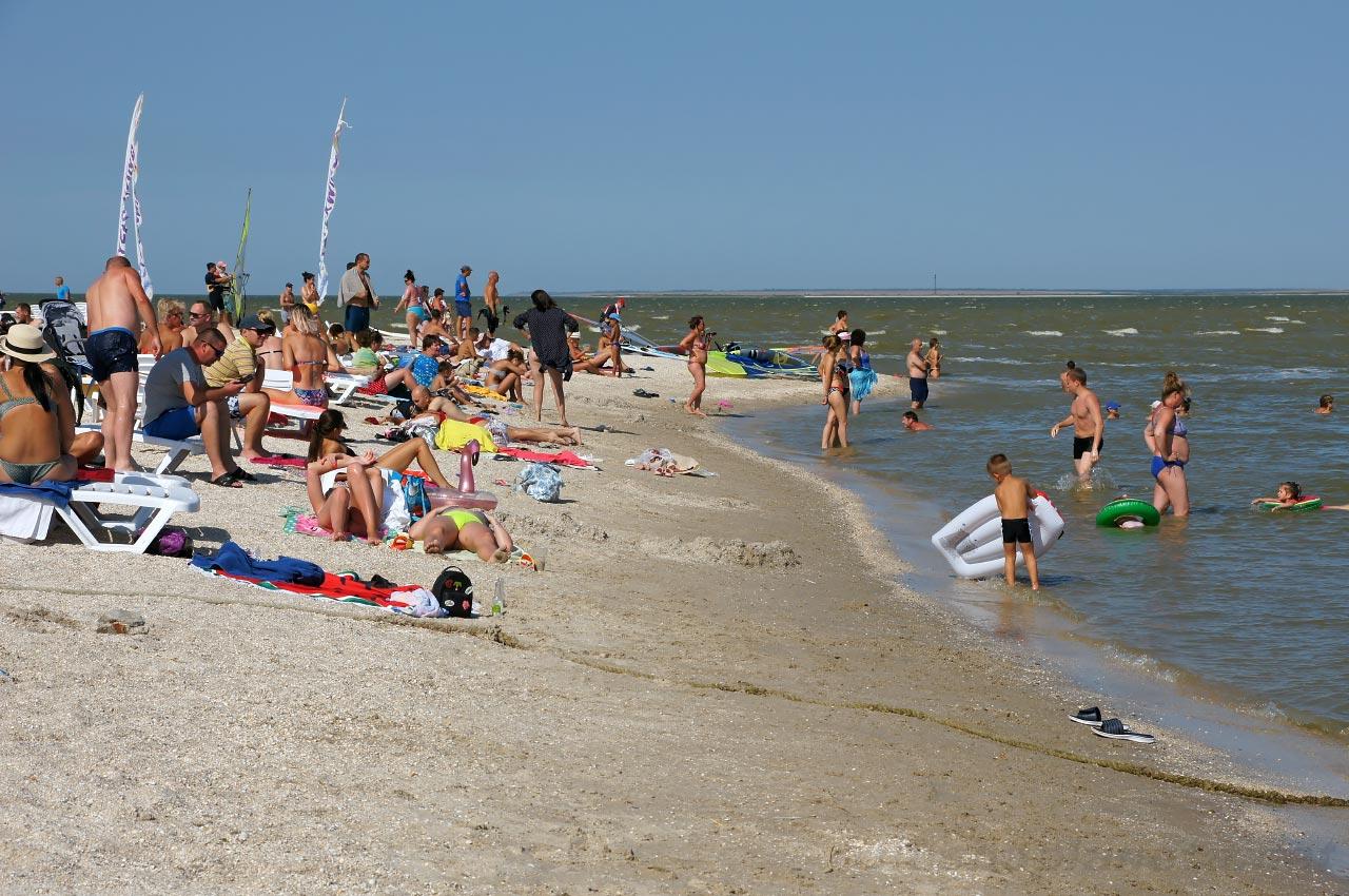 Пляж в Ейске, фото nashaplaneta.net