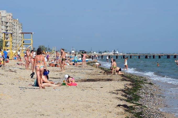 Новый пляж в Евпатории, Крым