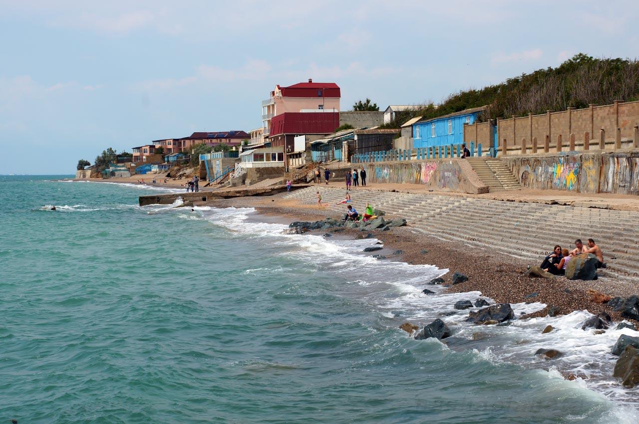 Крым поселок николаевка пляжи фото