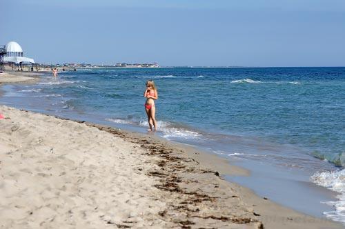 Пляж села Поповка, Крым