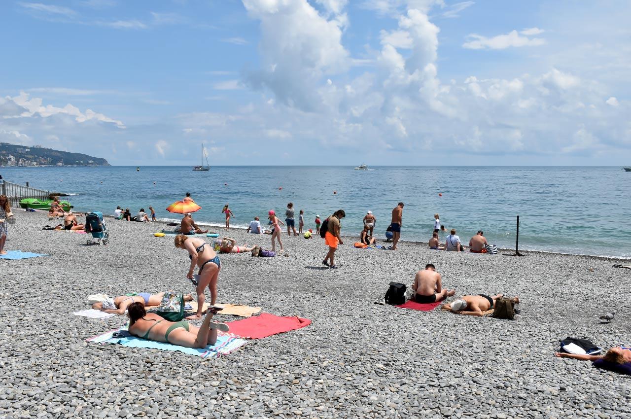 Городской пляж ялта фото